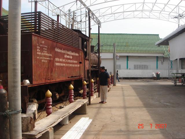 World War II trains at museum near Bridge on the River Kwai