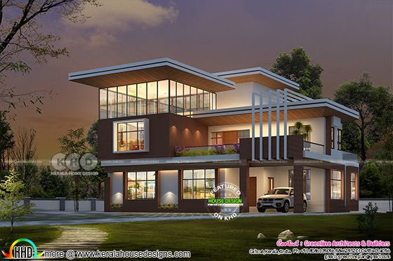 Modern style 5 bedroom contemporary style home design