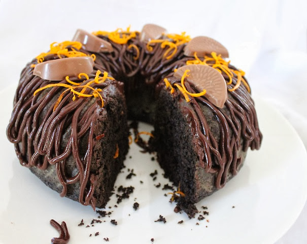 Food Lust People Love: Dark Chocolate Orange Bundt with Dark