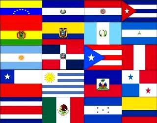 Imagen de las banderas que conforman las Américas
