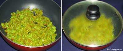 green peas paste added to make Stuffed paneer matar paratha