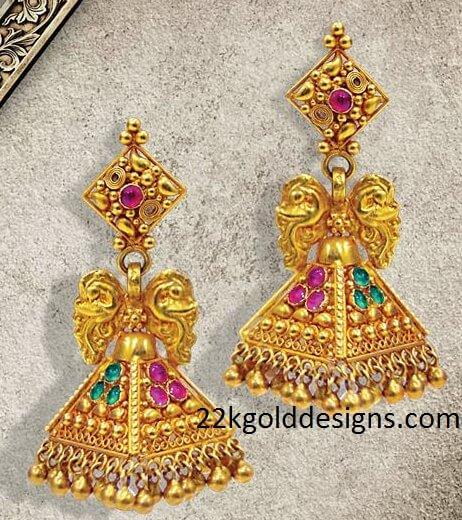 Nalli Gold Jhumkas