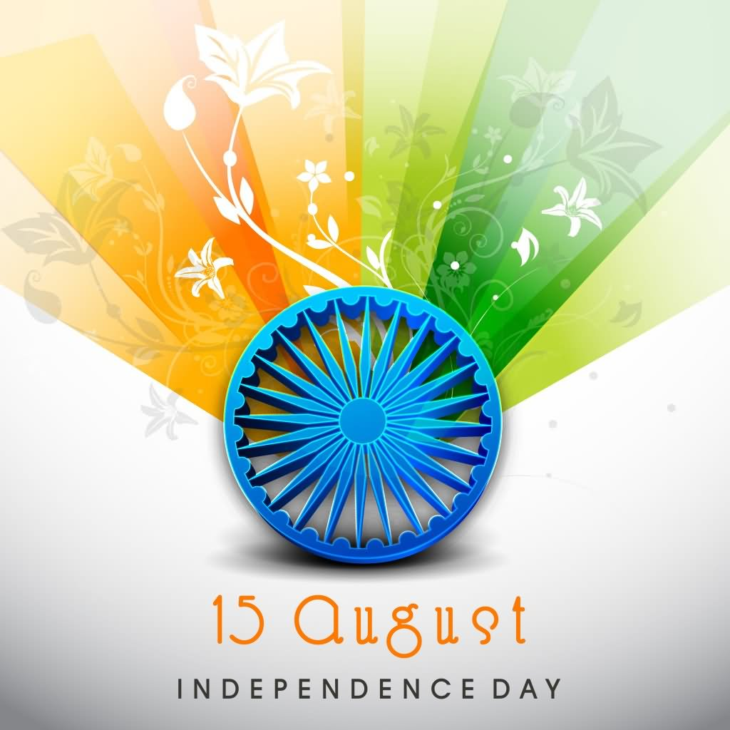 15 August Independence Day Wishes Card Picture