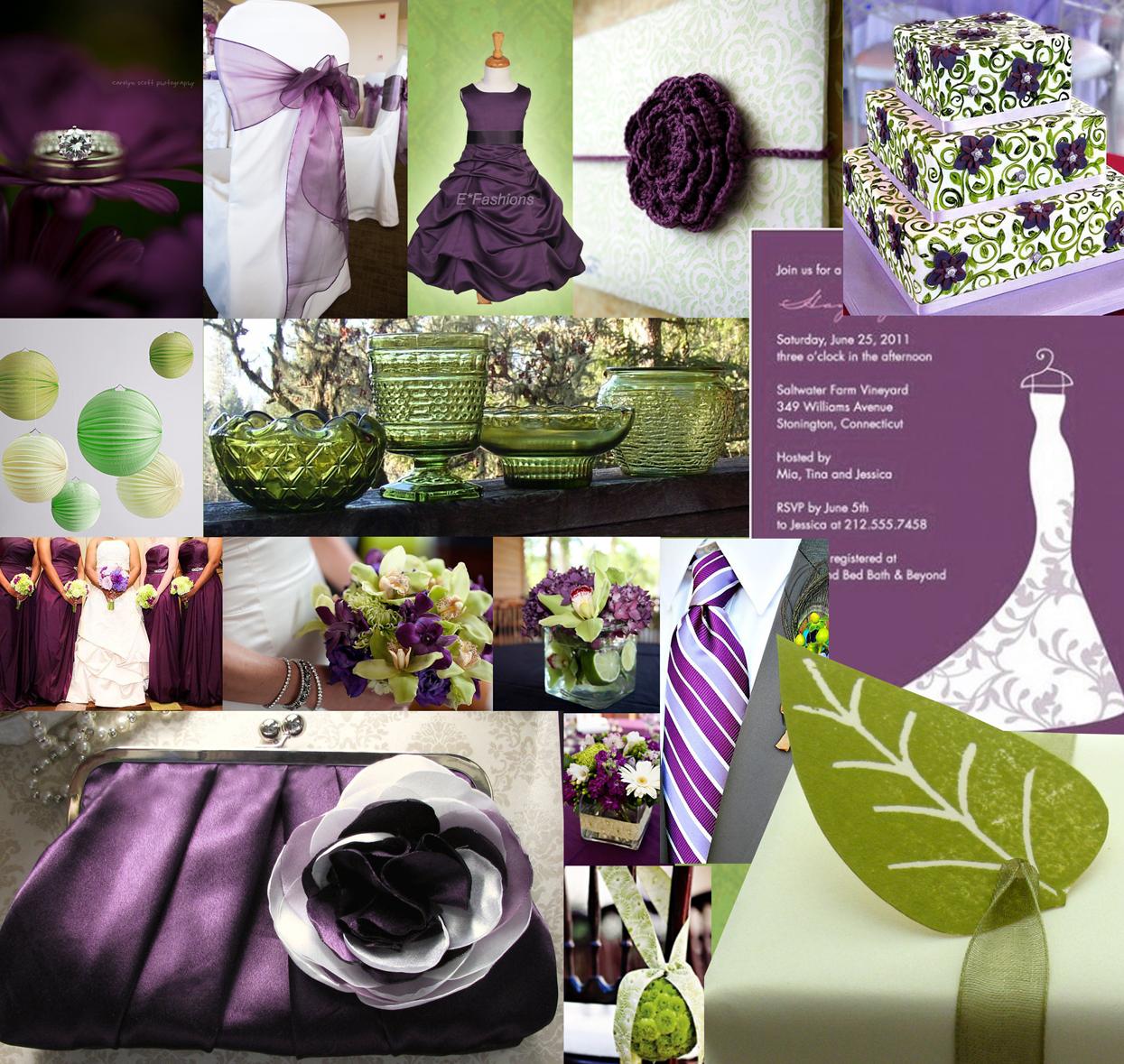 Eggplant Color Schemes: Kieler-Jones Wedding Ideas