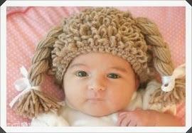 Tığ işi Saç Şeklinde Bebek Bere Modeli 3