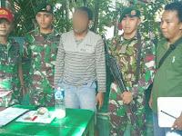 Satgas Yonif Para Raider 501 Kostrad Amankan Pemuda yang Sedang Konsumsi Narkoba