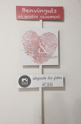 Cartel indicativo para dar la bienvenida a los invitados a tu boda