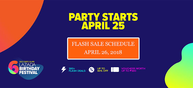 Lazada Birthday Sale Flash Sale Schedule April 26 2018