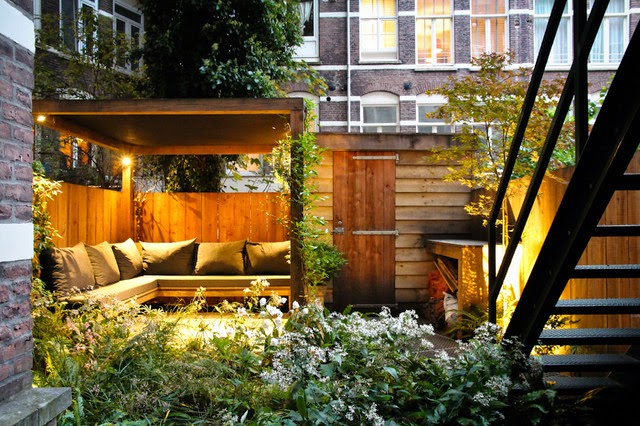 Contemporary Patio Idea for small yard, Backyard patio ideas