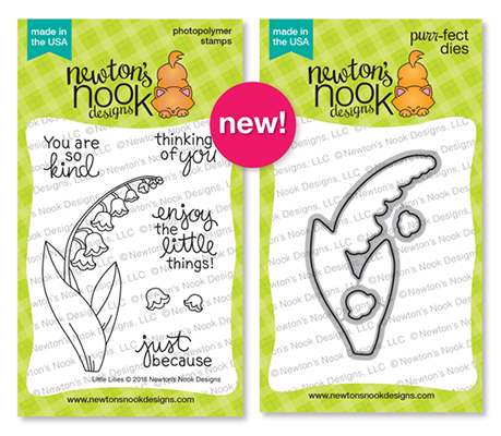 Little Lilies Stamp Set and Die Set by Newton's Nook Designs #newtonsnook #handmade