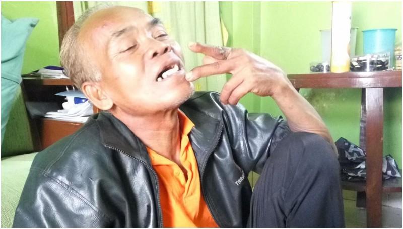 Waluyo (62) yang dianggap meninggal oleh keluarganya