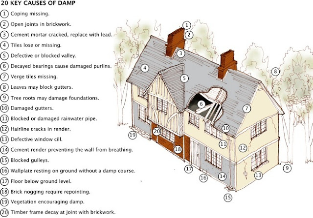 Causes of dampness in buildings