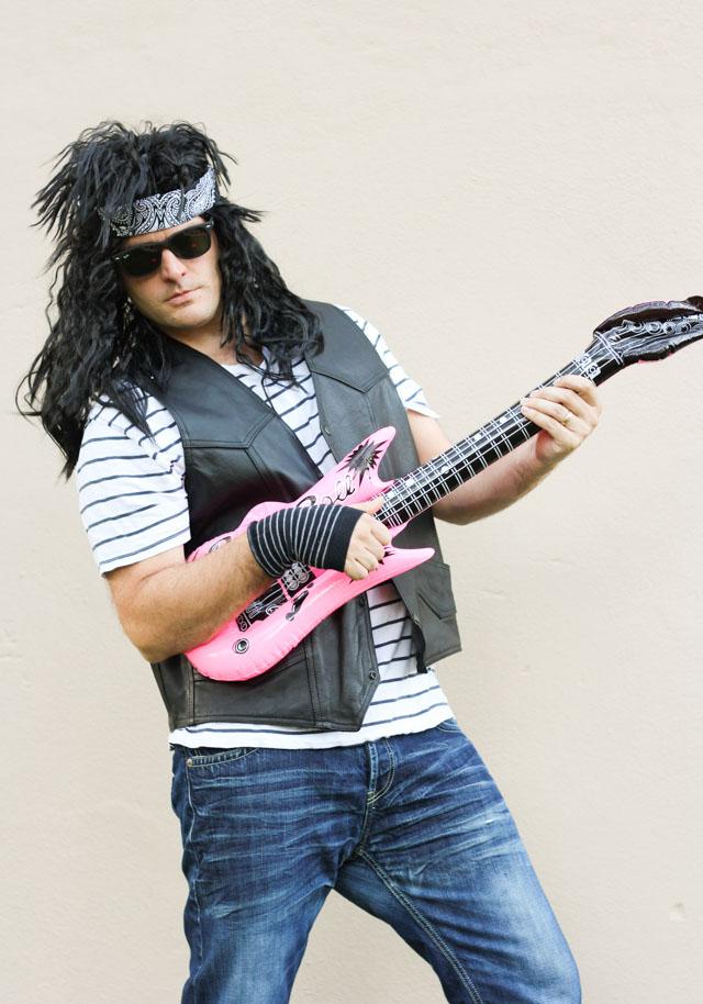 Love this 80s rocker costume idea for guys - that wig!  sc 1 st  Design Improvised & Family Halloween Costume Idea: 80s Rock Band! | Design Improvised