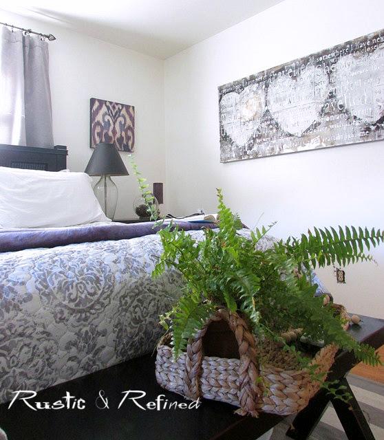 Master Bedroom Decor using soft purple and white color scheme.