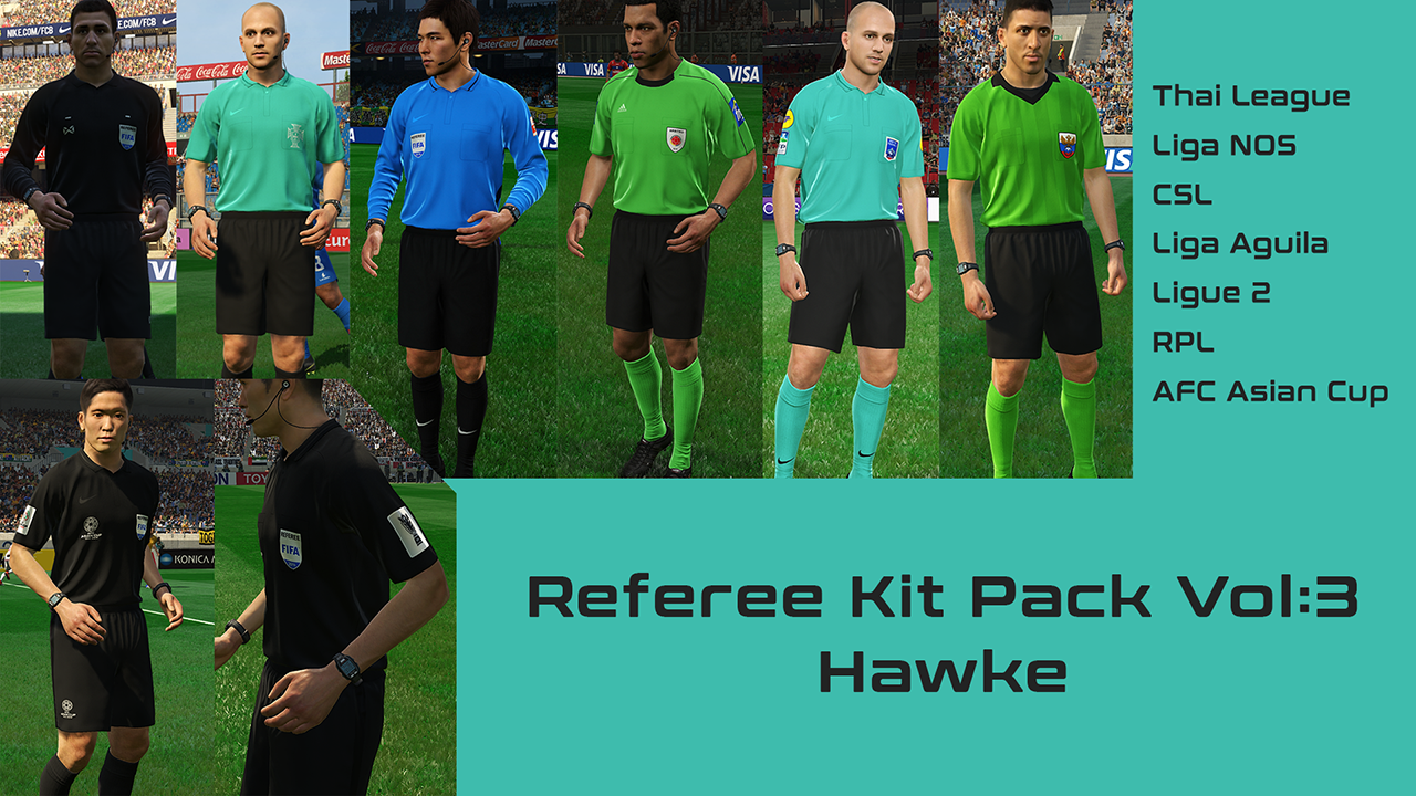 PES 2019 Referee Kit Pack V3 for RefKit Server by Hawke