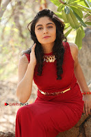 Telugu Actress Zahida Sam Latest Pos in Red Gown at RF Films New Movie Opening  0360.JPG