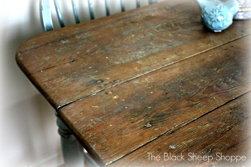 Rustic table top sealed with Danish Oil.