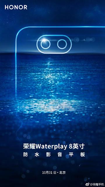 Honor WaterPlay 8 akan di Umumkan dengan 3 Perangkat Pada 31 Oktober