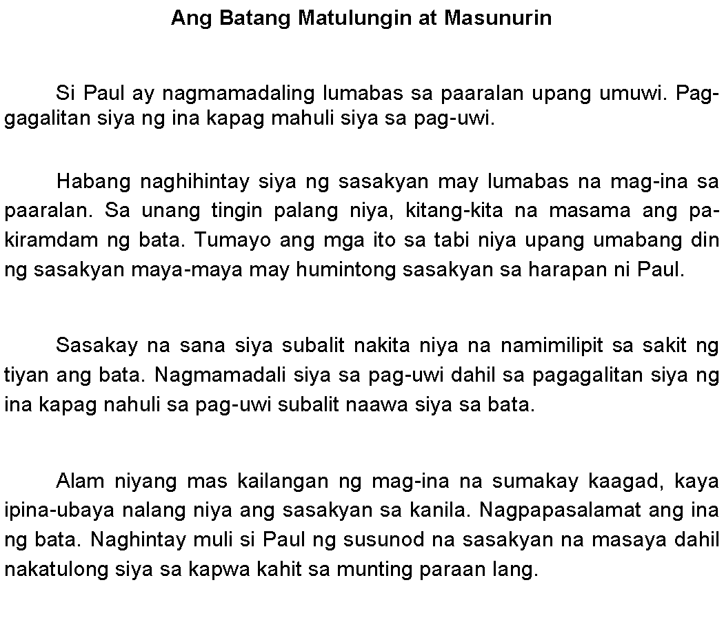Example Of Reaction Paper Tagalog - Floss Papers