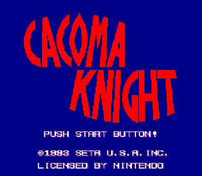 Cacoma Knight in Bizyland - Título