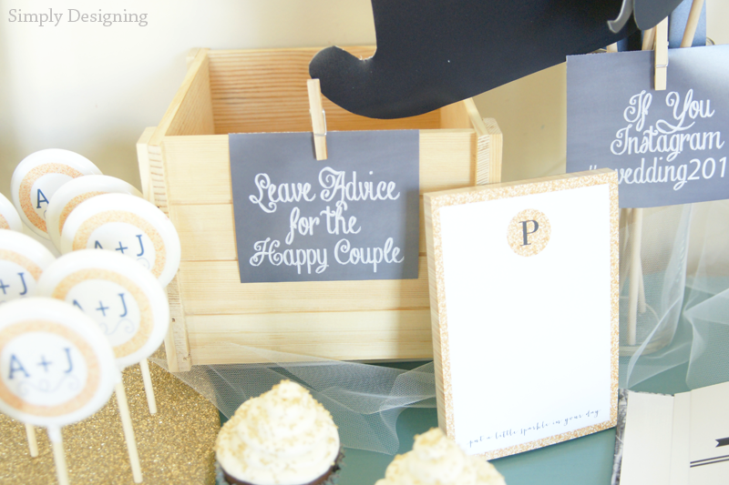 Rustic Glam Wedding Sign-In Table | #wedding #shutterflywedding @shutterfly #photobooth #printable