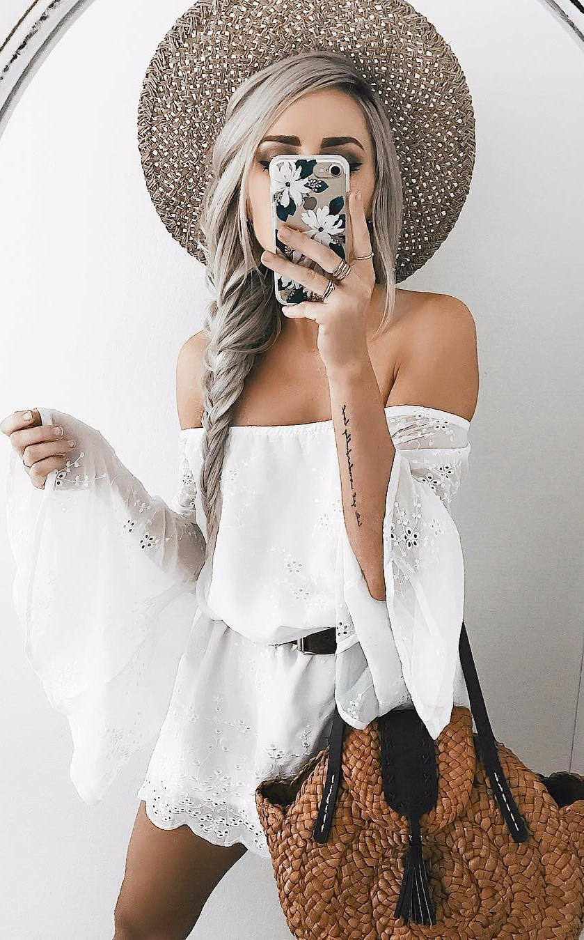 how to look boho chic wearing white dress