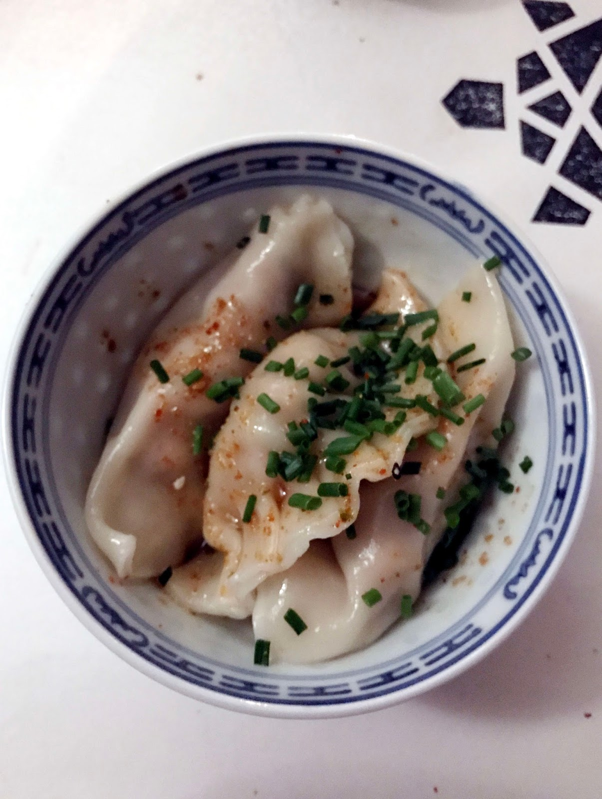 Stitch & Bear - Pork and chive dumplings at The Lucky Tortoise