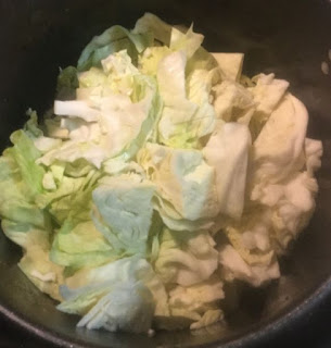 cabbage smoke sausage and potatoes, cabbage sausage supper recipe, simple but delicious, loaded boiled cabbage, cabbage and bacon,