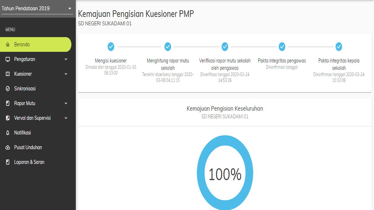 Cara Download dan Cetak Rapor Mutu PMP 2020 Online