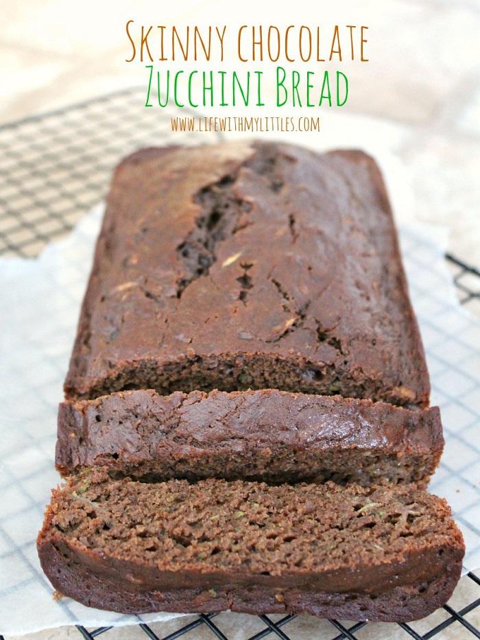 Skinny Chocolate Zucchini Bread