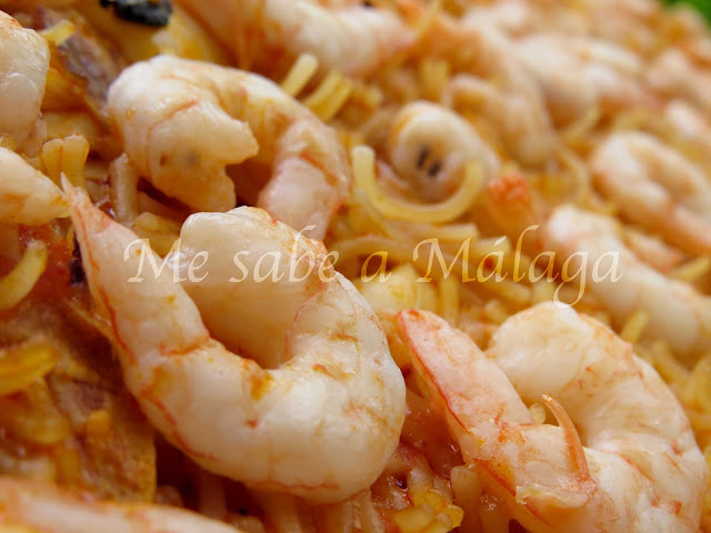 receta fideos a la banda Málaga