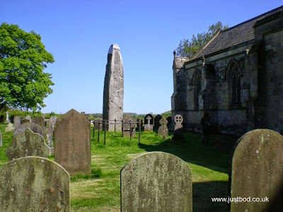 Rudston All Saints Church and standing stone