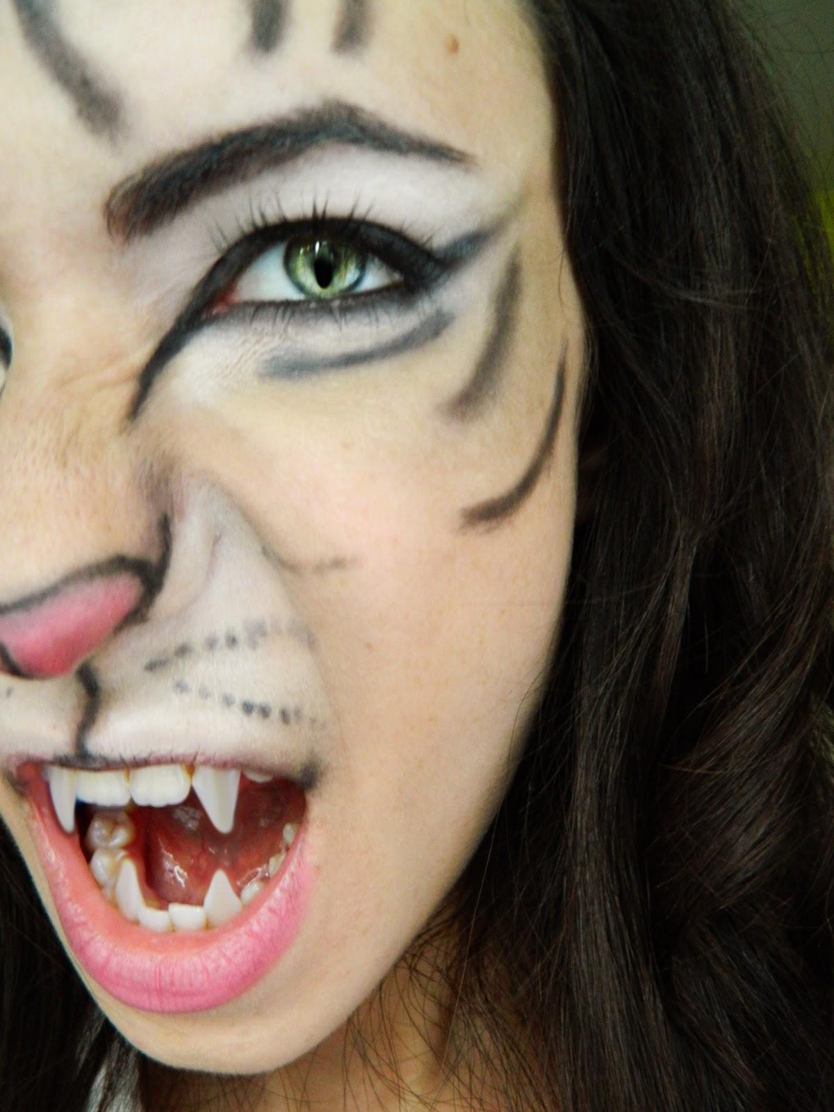 Makeup Turorials: Makeup And Art Freak: Tiger Makeup Tutorial For Halloween