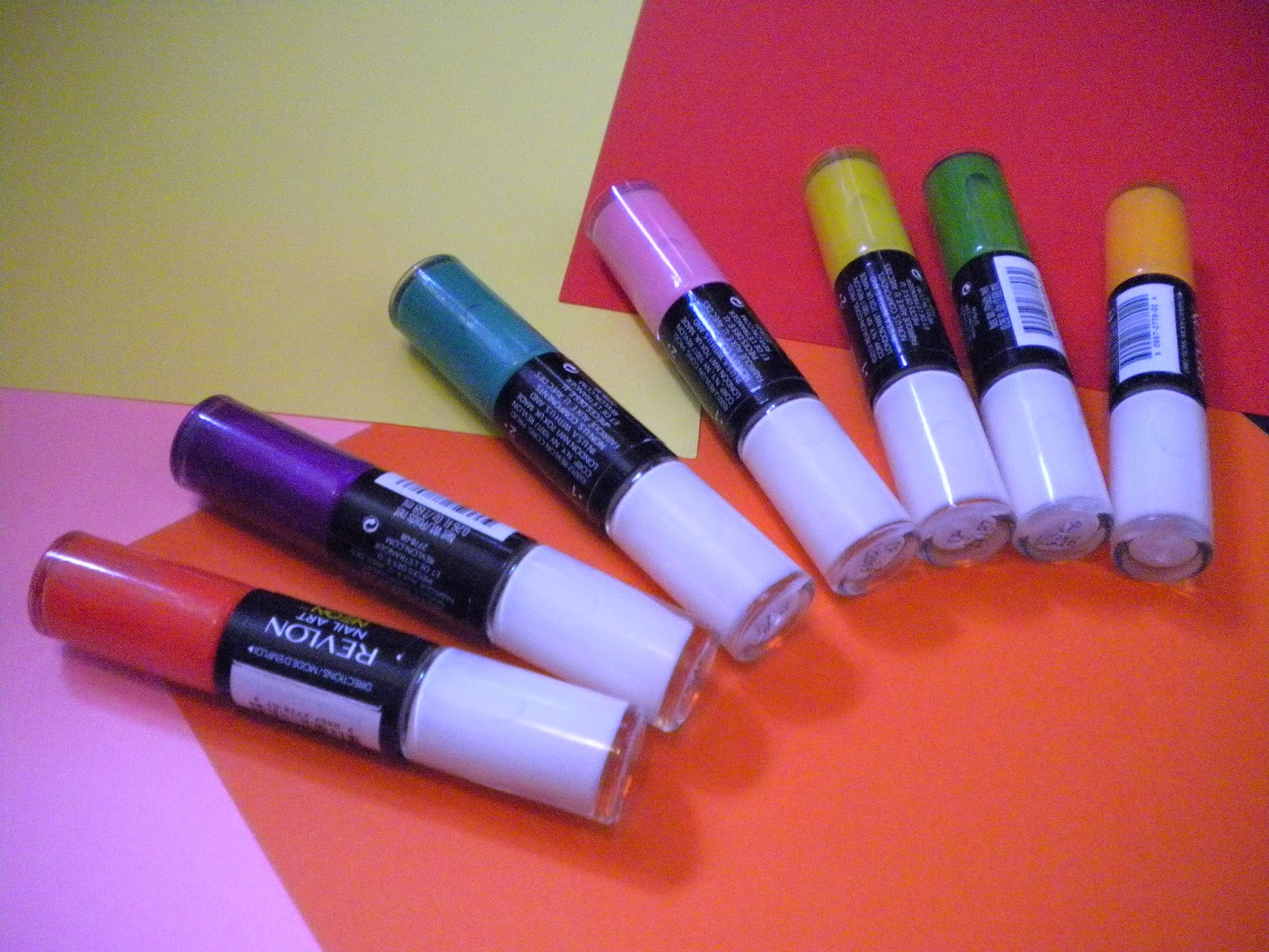 Addicted to nails...: Neon Alert: Revlon's Neon Nail Art