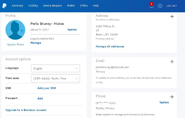 Free Working Paypal Accounts With Money  (USA)