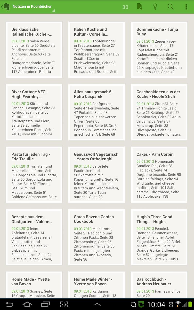 Evernote und Evernote Clearly für Hobbyköche und Foodblog-Leser