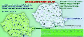 Topul județelor după investițiile nete