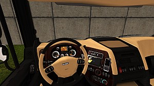 Beige and Black interior skin for DAF XF