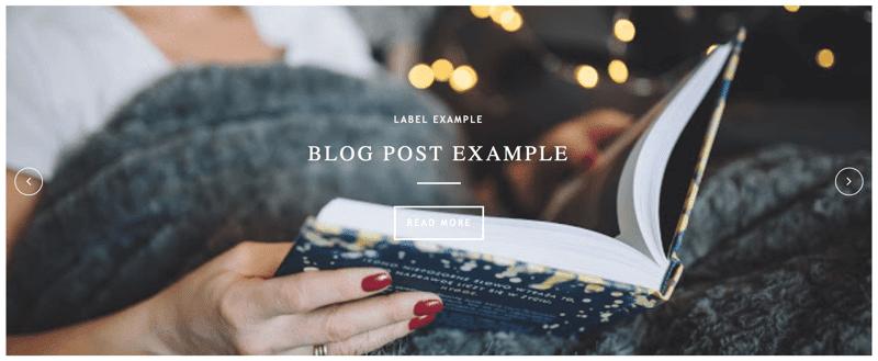 Full Responsive Homepage Image Slider For Blogger