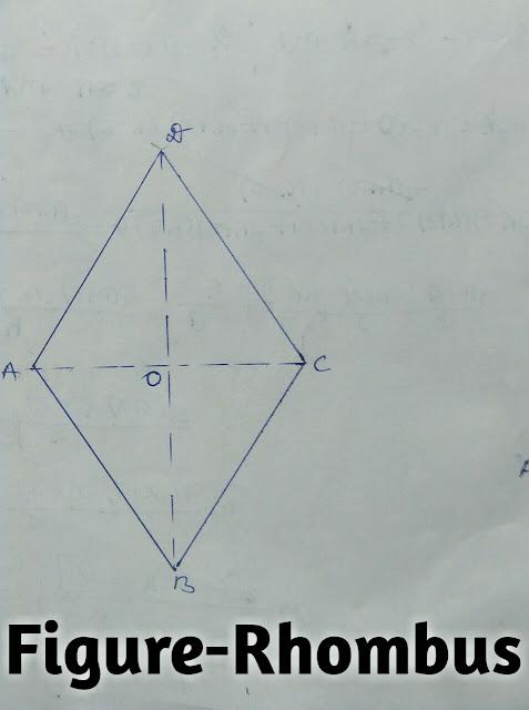 area of quadrilateral,area of Rhombus