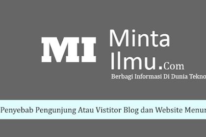 Penyebab Pengunjung Atau Visitor Blog dan Website Menurun