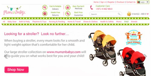 Online shopping at Mumz n Babyz