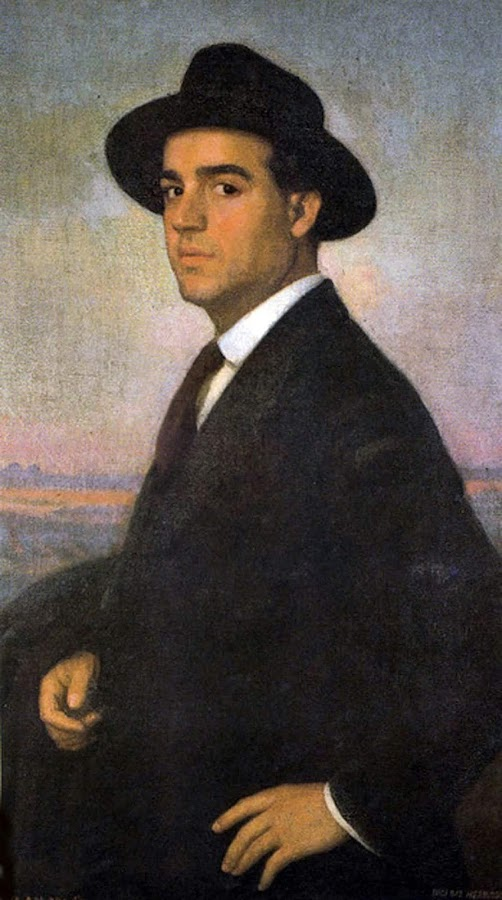 Eugenio Hermoso Martínez,  International Art Gallery, Self Portrait, Art Gallery, Eugenio Hermoso, Portraits of Painters, Fine arts, Self-Portraits, Painter Eugenio Hermoso