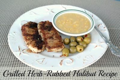 Grilled Herb-Rubbed Halibut Recipe