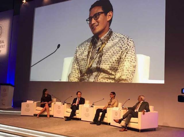 Jadi Pembicara di ICD, Sandi Pemimpin Pertama Indonesia yang diundang ICD