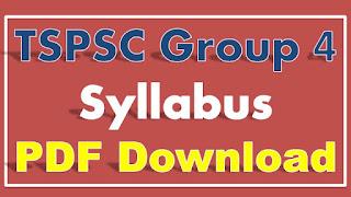 TSPSC Group 4 Syllabus PDF