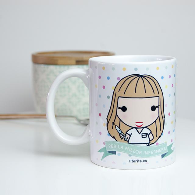 Rite rite regalo original para enfermera taza - Regalos para enfermeras ...