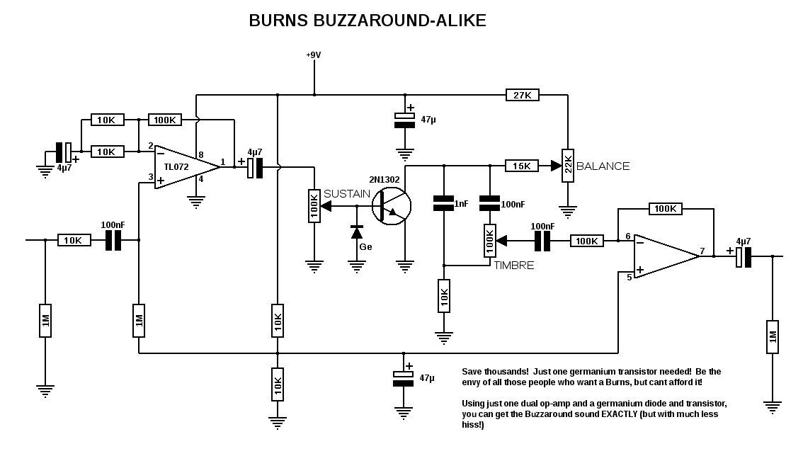 Tremolo additionally Burns Buzzaround Alike likewise Pro Co Rat Schematic also Ruby Bassman Schematic also Germanium Fuzz Face Pedal E. on germanium fuzz pedal schematic