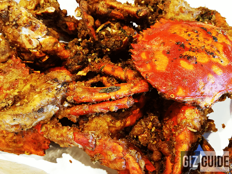 Crabs in Salted Egg, the newest dish