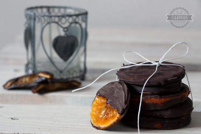 Mandarinas confitadas cocholateadas